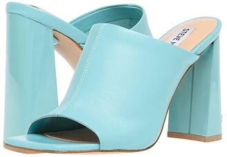 Steve Madden Tule Heeled Sandal (Black Leather) Women's Shoes