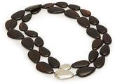Ralph Lauren Oval Wood Necklace