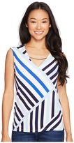 Calvin Klein Printed Sleeveless Top with Hardware Women's Sleeveless