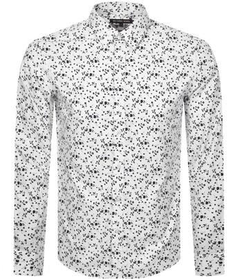 Michael Kors Floral Long Sleeved Shirt White