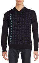 Versace Logo V-Neck Sweater