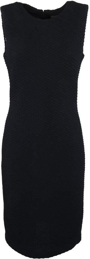 Armani Collezioni Wavy Woven Shift Dress
