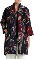 Lafayette 148 New York Mary Floral Jacquard Topper Coat
