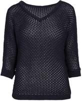 Morgan Midi sleeved woven v-neck sweater