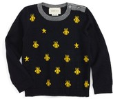 Gucci Infant Boy's Zest Bee & Star Intarsia Wool Sweater