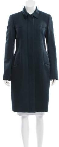 Calvin Klein Collection Silk & Wool-Blend Coat