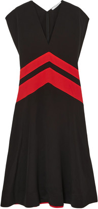 Givenchy Striped Silk Crepe De Chine Midi Dress