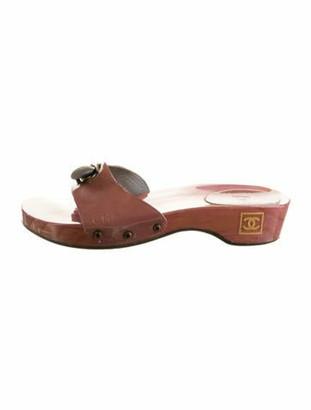 Chanel CC Flat Sandals Pink