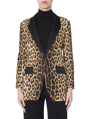 Moschino Animal Print Blazer