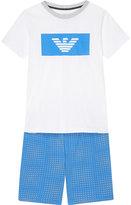 Armani Junior Cotton T-shirt And Shorts Set 4-16 Years