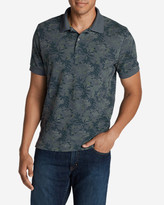 Eddie Bauer Men's Field Short-Sleeve Slim Polo Shirt - Print