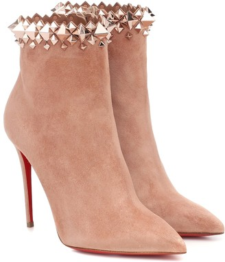 Christian Louboutin Firmamma 100 suede ankle boots