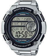 Casio Men's Silver World Time Watch