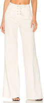 Frame Le Capri Lace Up Pant in White. - size 25 (also in 28)