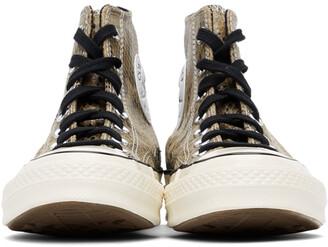 Converse Brown Snake Chuck 70 High Sneakers