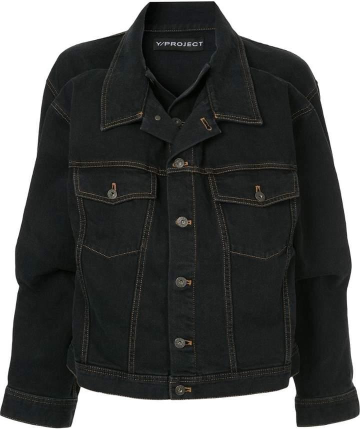 Y/Project Y / Project double-collar denim jacket