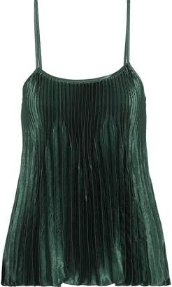 Vince Pleated Satin Camisole