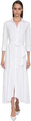 Ermanno Scervino Poplin & Lace Shirt Dress