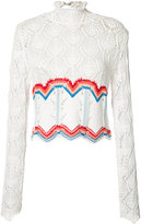 Peter Pilotto crochet rainbow top - women - Cotton/Polyamide - S