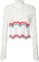 Peter Pilotto crochet rainbow top