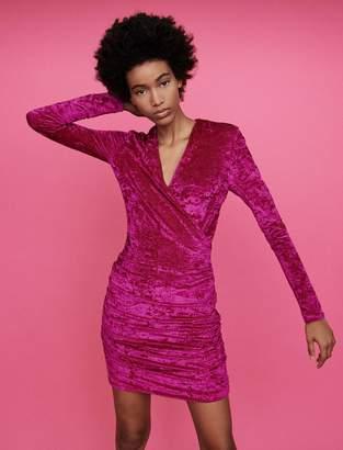 Maje Crushed velvet draped dress