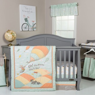 "Trend Lab Dr. Seuss ""Oh, the Places You'll Go!"" Mint 5-pc. Crib Bedding Set"
