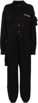 Natasha Zinko Pouch-Pocket Jersey Jumpsuit