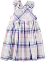 Osh Kosh Oshkosh Cross Back Plaid Dress - Toddler Girls