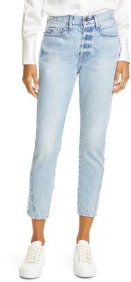 Frame Le Original High Waist Twist Seam Ankle Skinny Jeans