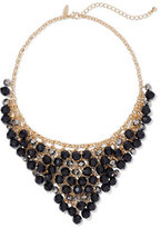 New York & Co. Triangular Beaded Bib Necklace