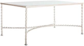 One Kings Lane Manick Coffee Table - Silver Leaf - frame, silver leaf; glass, clear