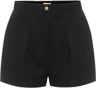 Alaia High-rise cotton shorts