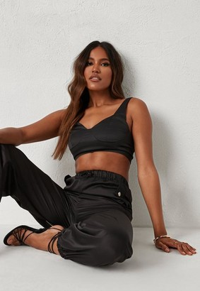 Missguided Michelle x Black Co Ord Cup Detail Bralet