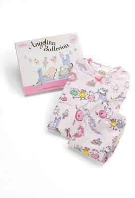 Angelina Ballerina Books To Bed Toddler's & Little Girl's Three-Piece PJs & Book Set