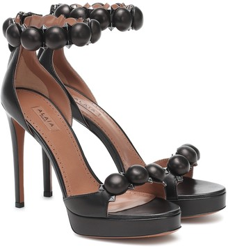 Alaia Bombe 115 leather sandals