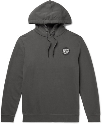 Outerknown Printed Loopback Organic Cotton-Blend Jersey Hoodie