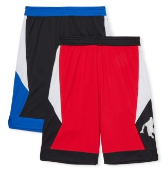 """AND 1 AND1 Boys 4-18 """"Square Up"""" Athletic Basketball Shorts, 2-Pack"""