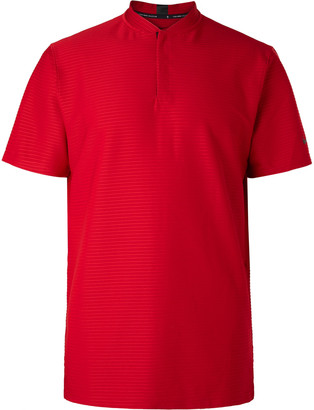 Nike Tiger Woods Ribbed Dri-Fit Stretch-Jersey Golf Polo Shirt