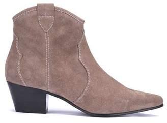 Mint Velvet Clara Taupe Cowboy Ankle Boots