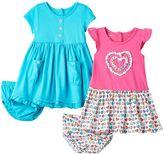 Nannette Baby Girl Ruffle Dresses & Bloomers Set