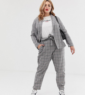 Koko check suit trousers-Multi