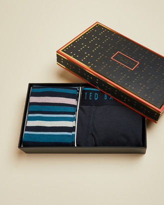 Ted Baker Boxer And Socks Gift Set