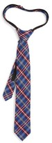 Nordstrom Boy's Plaid Wool & Silk Zipper Tie