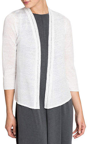 Nic+Zoe Open-Front Crochet Trim 4-Way Cardigan