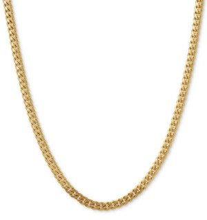 "Italian Gold Curb Link 22"" Chain Necklace in 14k Gold"