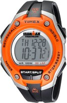 Timex Men's T5K529 Ironman Classic 30 Oversized Orange/Black Resin Strap Watch