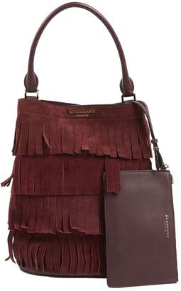 Burberry Burgundy Suede Handbags