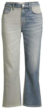 Current/Elliott The Vanessa Two-Tone Crop Flare Jeans
