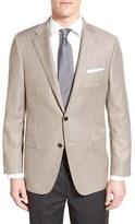 Hickey Freeman Men's Classic Fit Windowpane Wool Sport Coat