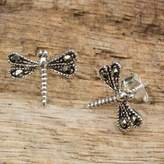 Sterling Silver Artisan Crafted Stud Earrings from Thailand, 'Petite Dragonflies'